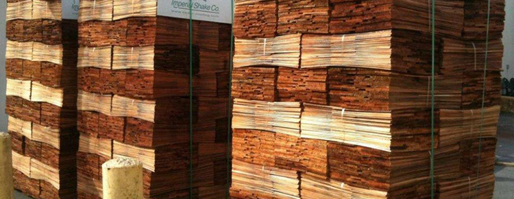 Stack of Western Red Cedar